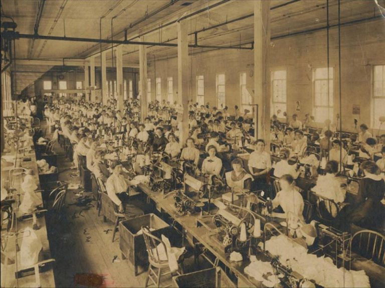 Employees at F. Jacobsons and Sons Shirt Factory ca 1920. Photo credit: Friends of Historic Kingston